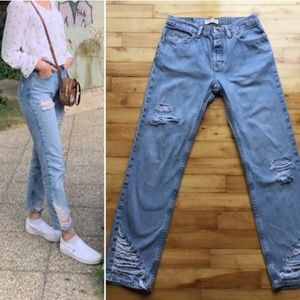 Vintage High Waist Light Wash GAP Jeans